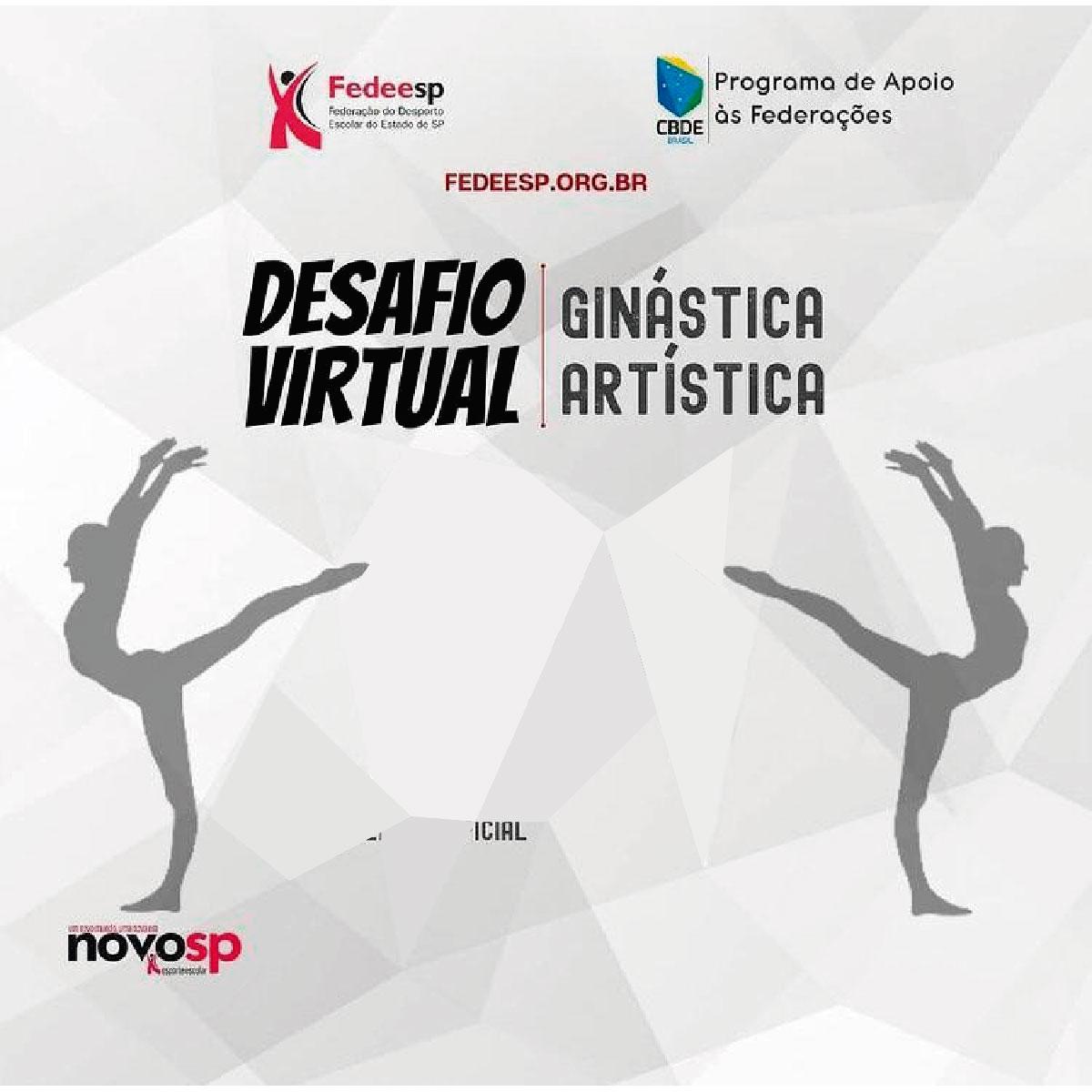 Desafio Virtual de Ginástica Artística traz título para o Eniac