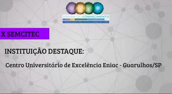 Reconhecimento pela participação na Semana do Conhecimento - SEMCITEC